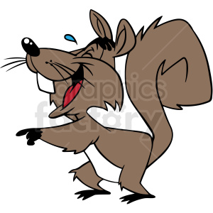 laughing squirrel vector clipart clipart. Royalty-free image # 413118