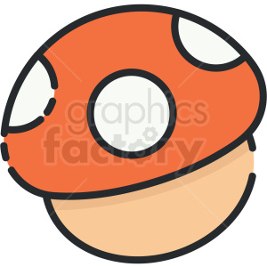 mushroom vector clipart clipart. Commercial use image # 413276