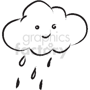 black and white tattoo rain cloud vector clipart clipart. Commercial use image # 413317