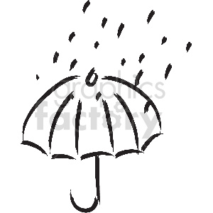 black and white tattoo umbrella vector clipart clipart. Commercial use image # 413321