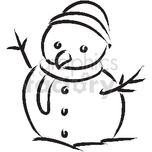 black and white tattoo snowman vector clipart clipart. Royalty-free image # 413327
