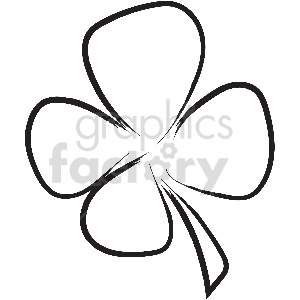 black and white tattoo clover vector clipart