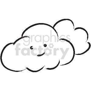 black and white tattoo happy clouds vector clipart clipart. Commercial use image # 413333