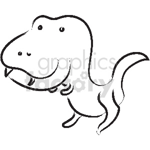 black and white tattoo t rex vector clipart
