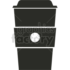 black coffe cup no background vector clipart. Royalty-free image # 413414