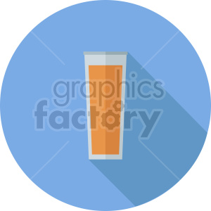 glass of beer vector icon on blue background