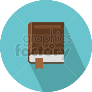 closed book vector clipart 3