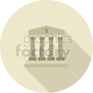 bank pillars vector clipart 2