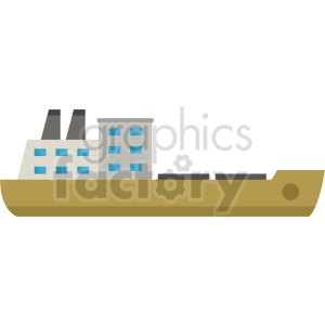 cargo ship vector icon no background clipart. Commercial use image # 413543