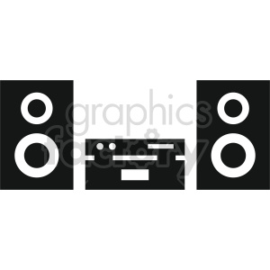stereo vector icon graphic clipart 4