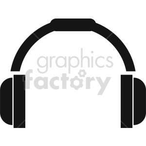 headphones vector icon graphic clipart 10 clipart. Commercial use image # 413573