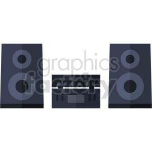 home stereo system vector icon graphic clipart clipart. Commercial use image # 413624