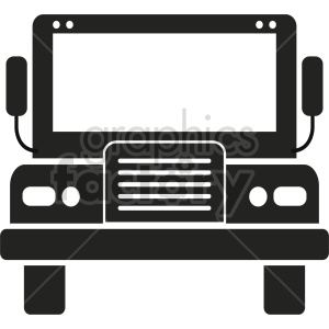 school bus vector icon graphic clipart 5