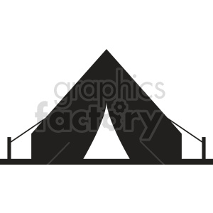 camping tent vector graphic clipart 4