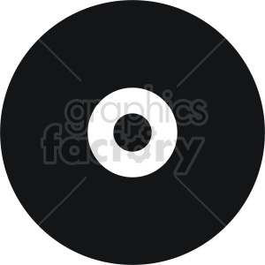 vinyl record vector icon graphic clipart 5 clipart. Commercial use image # 413689