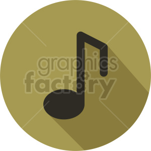 music note vector icon graphic clipart 3 clipart. Commercial use image # 413694