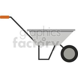 wheelbarrow vector icon clipart clipart. Commercial use image # 413838