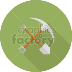 pickaxe shovel vector icon graphic clipart 3