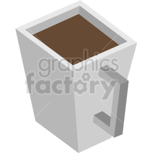 isometric square coffee cup vector icon clipart 1 clipart. Commercial use image # 413952