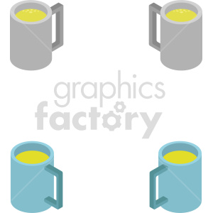 beer mug bundle isometric vector clipart icon clipart. Royalty-free image # 413965