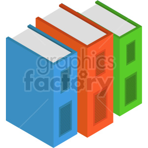 isometric book vector icon clipart 3