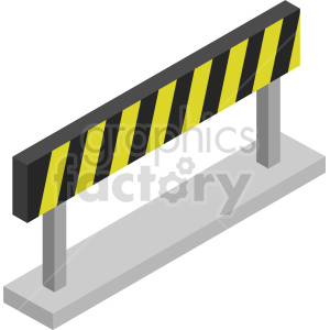 isometric road barricade vector icon clipart 9