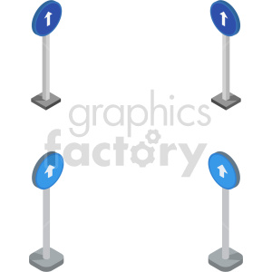 isometric road sign vector icon clipart  stradale1 clipart. Commercial use image # 413997
