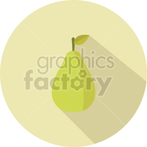 pear vector icon clipart 3