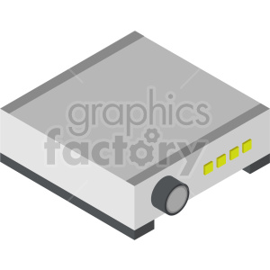 isometric projector vector icon clipart 6
