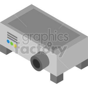 isometric projector vector icon clipart 3 clipart. Commercial use image # 414132