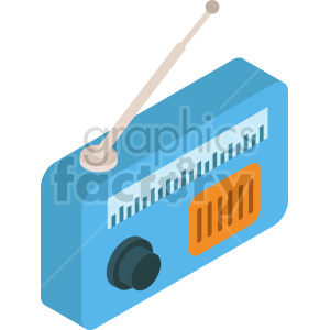 isometric radio vector icon clipart 6 clipart. Commercial use image # 414140