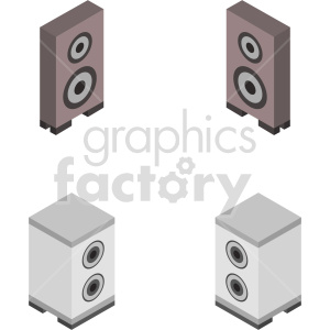 isometric speakers vector icon clipart bundle clipart. Commercial use image # 414177