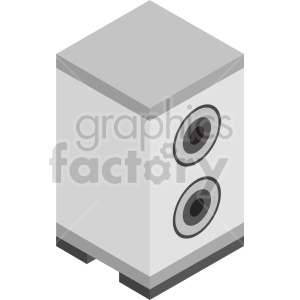 isometric speaker vector icon clipart clipart. Commercial use image # 414184