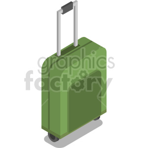 isometric travel bag vector icon clipart 3 clipart. Commercial use image # 414219
