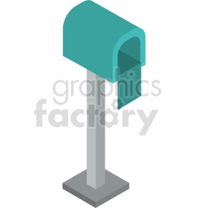 clipart - isometric mail box vector icon clipart 3.