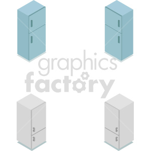 isometric refrigerator vector icon clipart 1 clipart. Commercial use image # 414271
