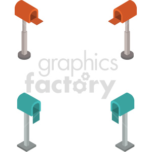 clipart - isometric mail box vector icon clipart 1.