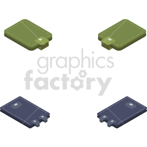 isometric wallet vector icon clipart 6 clipart. Commercial use image # 414296