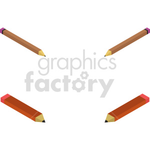 isometric pencil vector icon clipart bundle clipart. Commercial use image # 414339