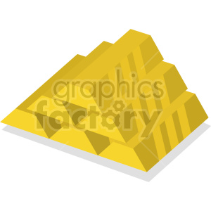 gold bars vector icon clipart 2 clipart. Commercial use image # 414374