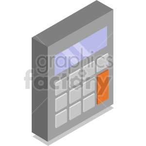 isometric calculators vector icon clipart 5 clipart. Commercial use image # 414407