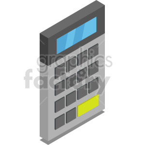isometric calculators vector icon clipart 3