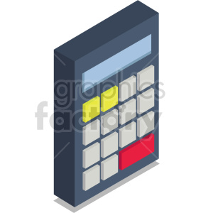 isometric calculators vector icon clipart 6 clipart. Commercial use image # 414432