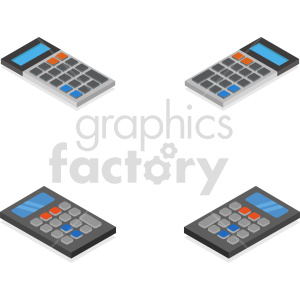 isometric calculators vector icon clipart 18 clipart. Commercial use image # 414433