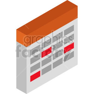 isometric calendar vector icon clipart 7 clipart. Commercial use image # 414445