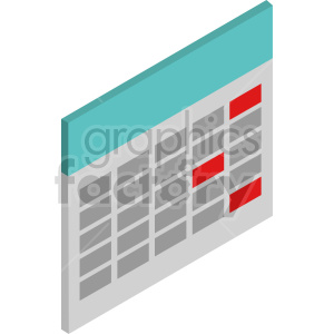 isometric calendar vector icon clipart 9 clipart. Commercial use image # 414450