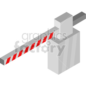 isometric road gate vector icon clipart 3 clipart. Commercial use image # 414459