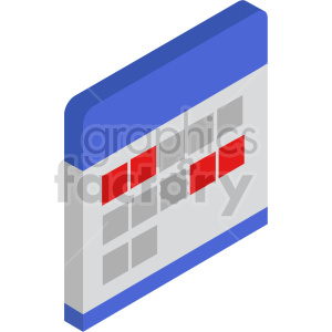 isometric calendar vector icon clipart 8 clipart. Commercial use image # 414486