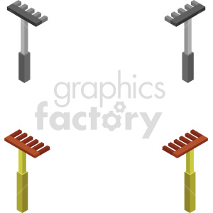 isometric rake vector icon clipart 1 clipart. Commercial use image # 414493