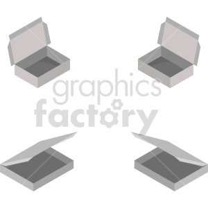 isometric food box vector icon clipart 1 clipart. Commercial use image # 414504